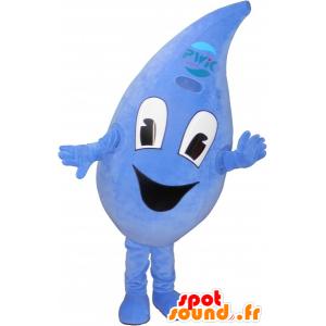 Mascotte de goutte d'eau, bleue, géante - MASFR032667 - Mascottes non-classées
