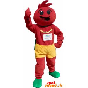 Traje de tomate. la mascota de tomate - MASFR032668 - Mascota de la fruta