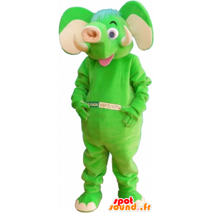 Mascot neon green elephant - MASFR032673 - Elephant mascots