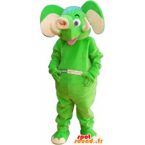 Mascotte d'éléphant vert fluo - MASFR032673 - Mascottes Elephant