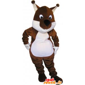 Mascot braune und weiße Eichhörnchen, Tic Tac oder - MASFR032679 - Maskottchen Eichhörnchen