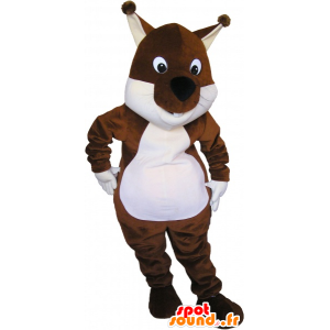 Mascot brown and white squirrel, Tic Tac or - MASFR032679 - Mascots squirrel