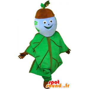 Mascotte de gland habillé en feuille de chêne - MASFR032683 - Mascottes de plantes