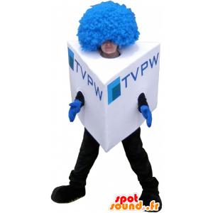 Square snowman mascot costume cube - MASFR032695 - Human mascots