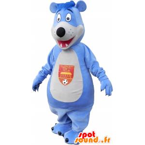 Wholesale mascot blue and white bear - MASFR032700 - Bear mascot