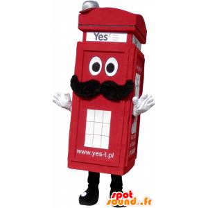 Μασκότ πραγματικό Λονδίνο κόκκινο τηλεφωνικό θάλαμο