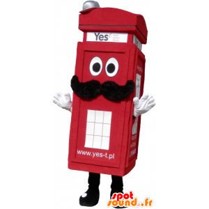 Maskotti todellinen London punainen puhelinkioski - MASFR032701 - Mascottes de téléphones