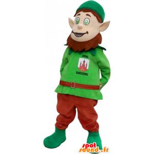 Leprechaun maskotti huomautti korvat - MASFR032702 - joulun Maskotteja