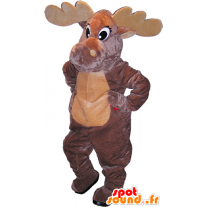 Mascot very realistic dark brown and beige momentum - MASFR032704 - Animals of the forest