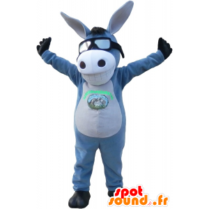 Mascot gray and white donkey with a smile. mule mascot - MASFR032705 - Farm animals