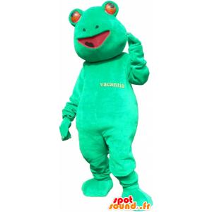 Mascot green frog, giant, funny - MASFR032706 - Mascots frog