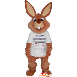 Giant brown rabbit mascot shirt - MASFR032707 - Rabbit mascot