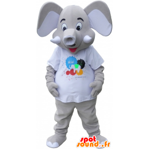 Mascot big gray elepant - MASFR032711 - The jungle animals