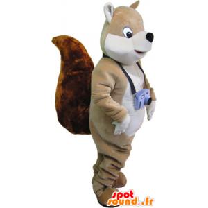 Großen braunen Eichhörnchen Maskottchen großen Schwanz - MASFR032712 - Maskottchen Eichhörnchen