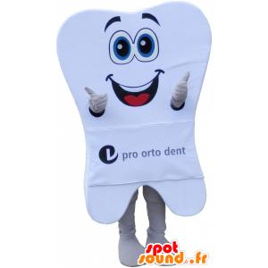 Obří bílý zub maskot s velkým úsměvem - MASFR032713 - Neutajované Maskoti