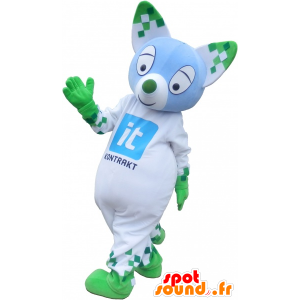 Cat mascot colored with pointed ears - MASFR032714 - Cat mascots