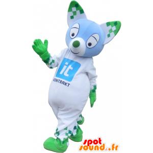 Mascotte de chat coloré aux oreilles pointues - MASFR032714 - Mascottes de chat