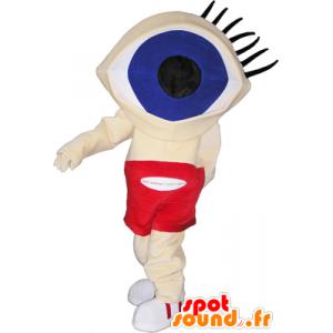 Lustiger Schneemann Maskottchen Kopf mit großen Augen - MASFR032726 - Menschliche Maskottchen