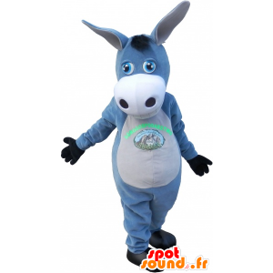 Mascot gray and white donkey. mule mascot. - MASFR032731 - Farm animals