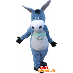 Mascotte d'âne gris et blanc. Mascotte de mule. - MASFR032731 - Animaux de la ferme