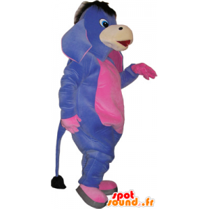 Mascot purple and pink ass. mule costume - MASFR032734 - Farm animals