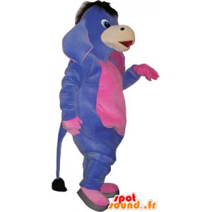 Maskot fialovou a růžovou osla. Mule Costume - MASFR032734 - hospodářská zvířata