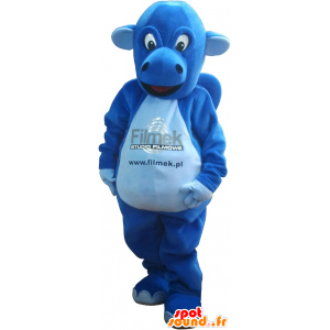 Blaue Dinosaurier-Maskottchen. Dinosaurier-Kostüm - MASFR032739 - Maskottchen-Dinosaurier