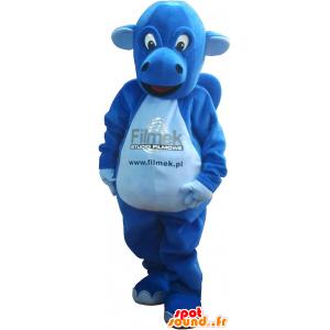 Mascotte de dinosaure bleu. Costume de dinosaure - MASFR032739 - Mascottes Dinosaure