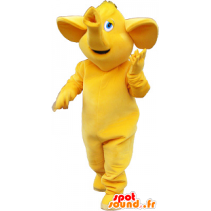 Alle grote gele olifant mascotte - MASFR032744 - Elephant Mascot