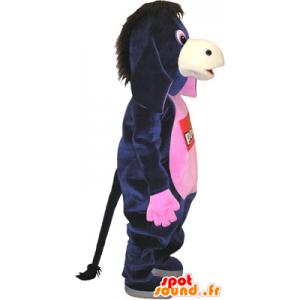 Mascotte d'âne noir et rose, très amusant - MASFR032753 - Animaux de la ferme