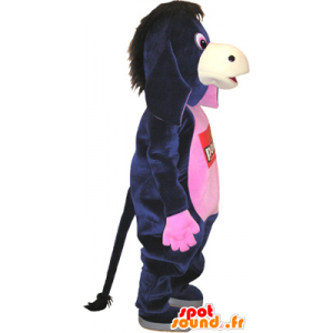 Maskot černé a růžové osel, legrace - MASFR032753 - hospodářská zvířata