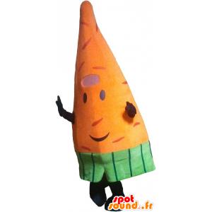 Mascot zanahoria gigante naranja. mascota vegetal - MASFR032761 - Mascota de verduras