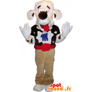 Mascotte de chien tacheté avec une grosse tête - MASFR032764 - Mascottes de chien
