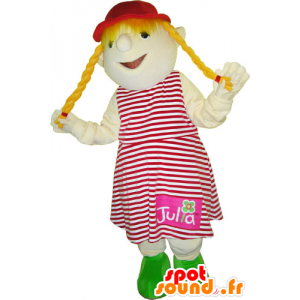 Mascot of little blonde girl. Mascot child - MASFR032768 - Mascots child