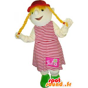 Mascot av liten blond jente. Mascot barn - MASFR032768 - Maskoter Child