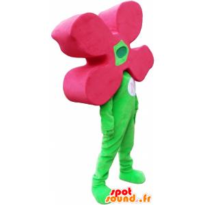 Grün Mann Maskottchen mit einer Blume für einen Kopf - MASFR032769 - Menschliche Maskottchen