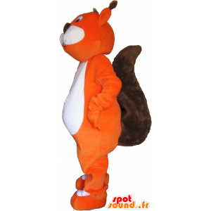 Mascot orange and brown giant squirrel - MASFR032770 - Mascots squirrel