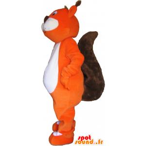 Maskotti oranssin ja ruskean jättiläinen orava - MASFR032770 - maskotteja orava