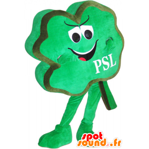 Clover mascot four green leaves, playful - MASFR032775 - Mascots of plants