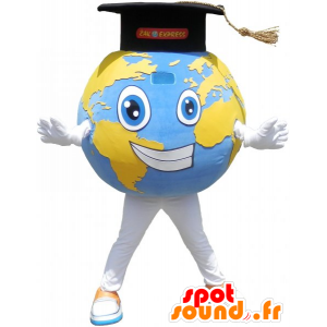 Giant planet earth mascot with Grad Cap - MASFR032781 - Mascots unclassified