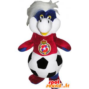 Mascotte peluche avec un corps ballon et un maillot de foot - MASFR032792 - Mascottes non-classées