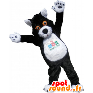 Mascot big black and white cat. cat suit - MASFR032794 - Cat mascots