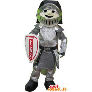 Knight Mascot armor with helmet and shield