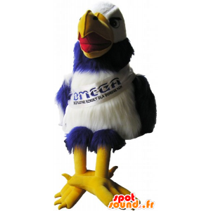 Mascot blue and white vulture with huge yellow legs - MASFR032807 - Mascot of birds