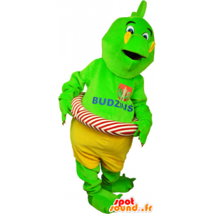 Green dinosaur mascot flashy shorts with a buoy - MASFR032809 - Mascots dinosaur