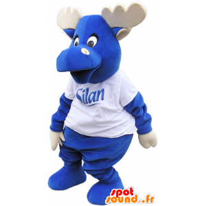 All blue mascot momentum with wood and a white t-shirt - MASFR032813 - Animals of the forest