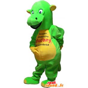 Honosné žluté a zelené dinosaurus maskot - MASFR032825 - Dinosaur Maskot