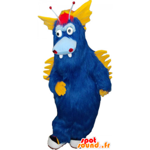 Mascot big blue and yellow hairy monster all - MASFR032827 - Monsters mascots