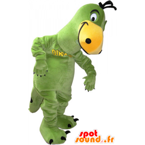 Green and yellow dinosaur mascot - MASFR032834 - Mascots dinosaur