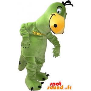 Vihreä ja keltainen dinosaurus maskotti - MASFR032834 - Dinosaur Mascot